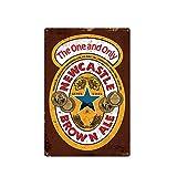 Targa in latta con scritta 'Newcastle Brown Ale, London Pride Bar', decorazione per birra, regalo barista, barista, beve segno di qualità, in metallo, 20,3 x 30,5 cm