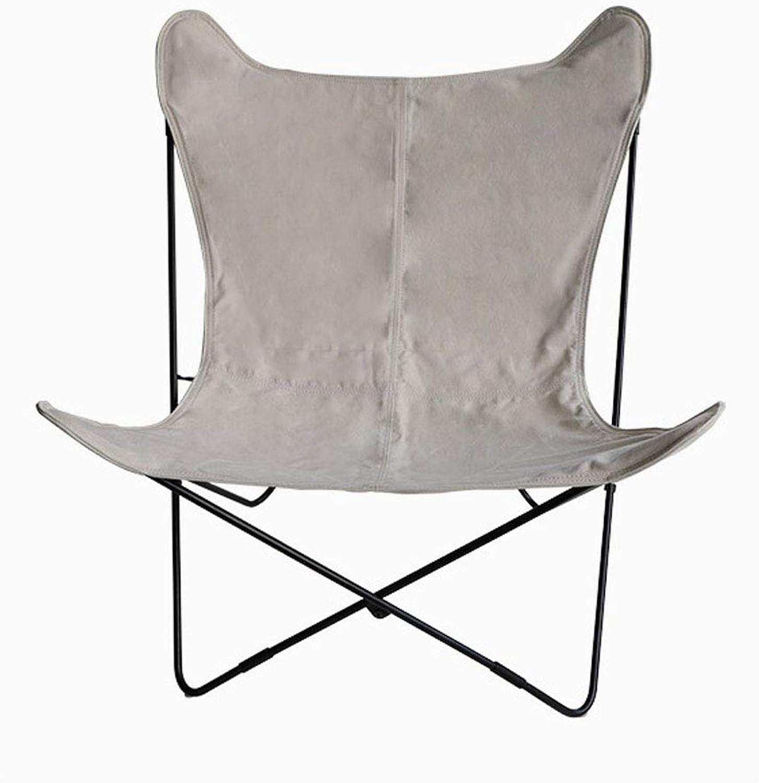 precios bajos Silla plegable al aire libre, nórdico exterior exterior exterior muebles de ocio silla de la mariposa creativa silla para el almuerzo descanso plegable silla de Jugara perezosa sillón (85  81  89CM),C  precioso