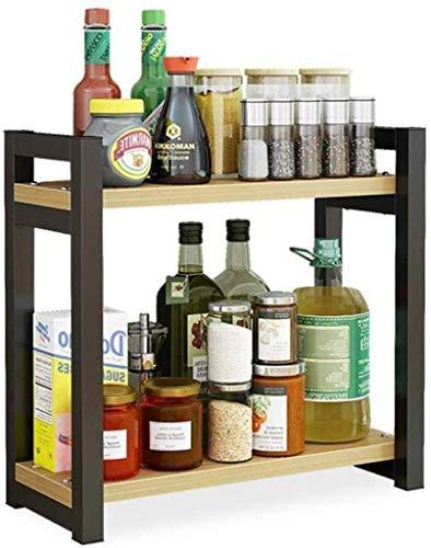 Küchenregal für Küchenschränke und Arbeitsplatten Freistehendes Küchenregal zur Aufbewahrung von Konservendosen, Geschirr und mehr (Farbe: 1)
