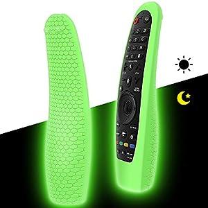 Funda de Protectora Compatible con LG Magic Control Remoto AN-MR19BA AN-MR18BA AN-MR20GA AN-MR600 AN-MR650 AN-MR650A, Antideslizante Silicona Carcasas para LG Mando a Distancia - Glow Green