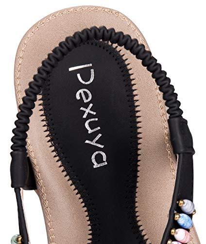 Damen Sommer Sandalen, Schwarz - 2