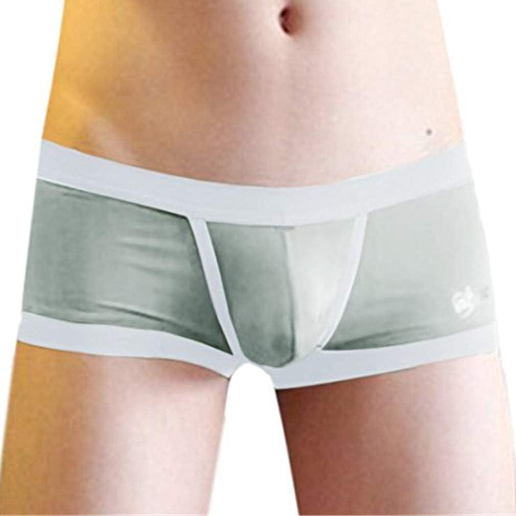 Mens Low Rise Underwear Briefs Bulge Pouch Trunks Shorts Breathe Mesh Underpants