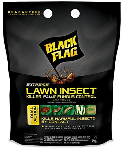 Black Flag Extreme Lawn Insect Killer + Fungus Control Granules, 10-Pound, 4-Pack
