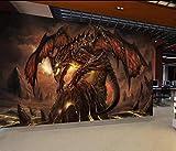 Jeu World of Warcraft Dragon Papier Peint Décor À La Maison Photo Murale Papier...