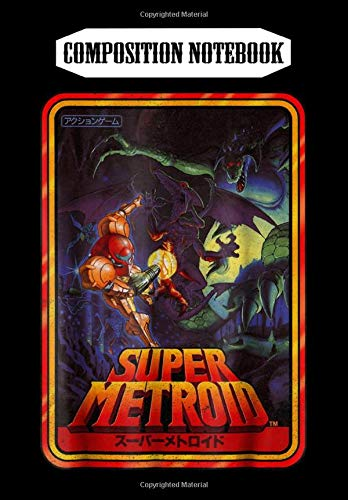 Composition Notebook: Nintendo Super Metroid Kanji Poster Style Graphic, Journal 6 x 9, 100 Page Blank Lined Paperback Journal/Notebook