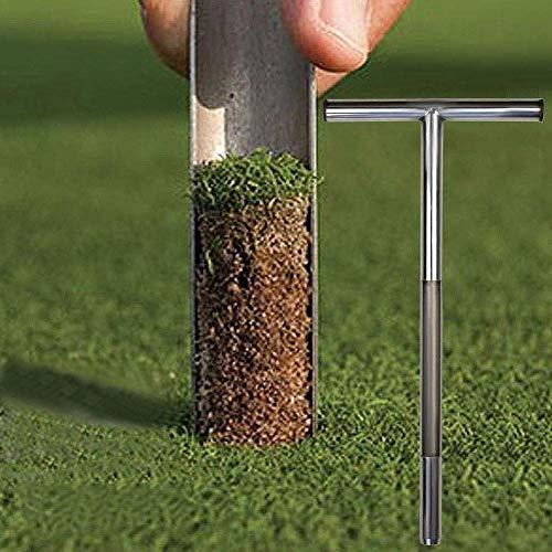 Sampler Probe Gartenrasen 50,8 cm T-Style Bodenkern, Probenahme Golfplatzprobenahme Edelstahl Bohrung Rasen Wartungswerkzeug Bodensonde