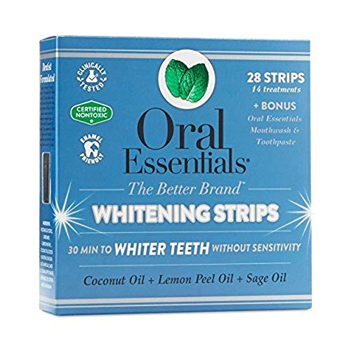 Oral Essentials Whitening Strips (Pack of 14) No Sensitivity/Dentist Formulated/Clinically Tested/Non-Toxic