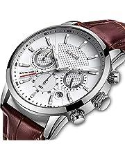 メンズ腕時計 カジュアル ビジネス ラグジュアリークラシックウォッチメンズ防水マルチ機能クォーツウォッチクロノグラフ日付表示スポーツ腕時計