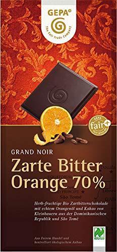 ゲパ GEPA チョコレート ビオ オーガニック フェアトレード ダーク オレンジ ヴィーガン グランノワール カカオ70% ハイカカオ 100g