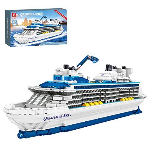 OATop Yacht Schiff Modellbausatz, 2428 Pcs Kreuzfahrtschiff Spielzeug Kompatibel mit Lego für Kinder & Erwachsene