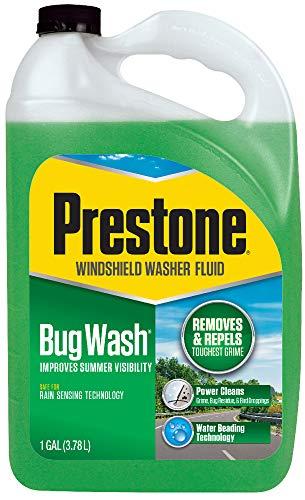Prestone AS657 Bug Wash / Summer Windshield Washer Fluid, 1 Gallon
