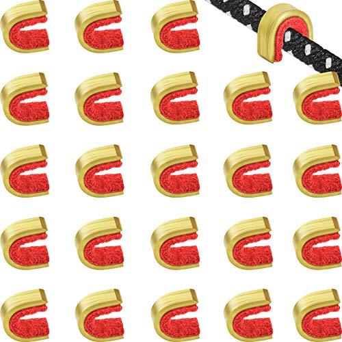 20 Pezzi Punti di Incocco Punti di Incocco delle Corde di Tiro con l'Arco Clip con Fibbia per Corde Arco per Arco Compound e Ricurvo (Rosso)