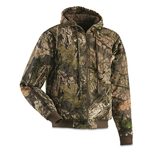 HUNTRITE Men's Camo Insulated Hunting Jacket, Mossy Oak, 2XL
