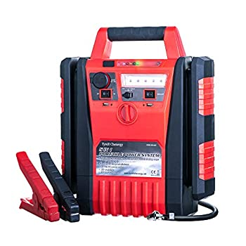 Tyrell Chenergy 1700 Peak Amp Portable Power Station Car Jump Starter,Jump Starter with air Compressor,2.1A USB Ports and DC 12V Socket,Jump Boxes for Vehicles,Battery Clamps  1700 Amp 12V