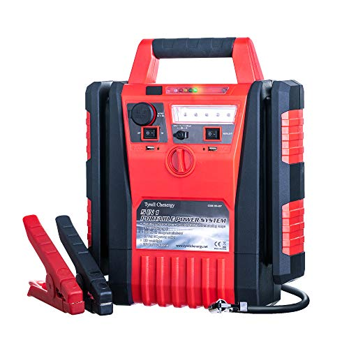 Tyrell Chenergy 1700 Peak Amp Portable Power Station Car Jump Starter,Jump Starter with air Compressor,2.1A USB Ports and DC 12V Socket,Jump Boxes for Vehicles,Battery Clamps (1700 Amp 12V)