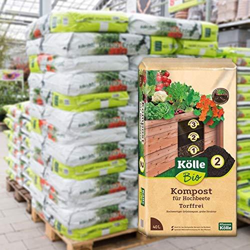 Kölle Bio Hochbeet-Kompost 45 Sack à 40 l, Palettenware ohne zusätzliche Versandkosten
