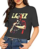 Tory Lanez T Shirt Women Crop Top Summer Sexy Dew Navel T-Shirt Cotton Short Sleeve Small Black
