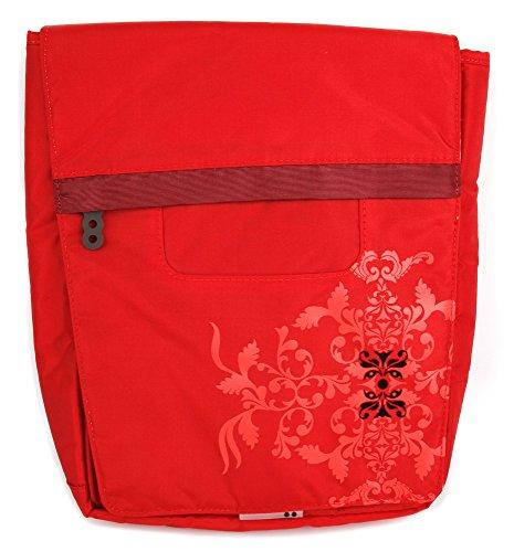 DURAGADGET Bolso Rojo con Print Floral Compatible con Tablet...