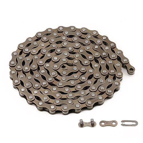 ZONKIE Fahrrad Kette 1-fach,1/2 x 1/8, 116 Glieder
