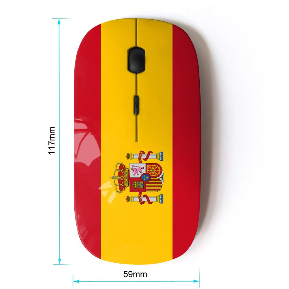 STPlus España Bandera española Monedero Ratón Inalámbrico Ergonómico con Receptor Nano de 2,4 GHz: Amazon.es: Electrónica