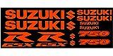 ! -Set DE 10 Pegatinas para Suzuki GSXR 750, Color Naranja Fluorescente