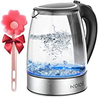 Koios 1.8L Electric 1500W Borosilicate Glass Tea Kettle