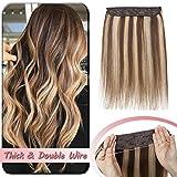 Extension Cheveux Naturel Fil Invisible Maxi Volume - Rajout Une Piece Monobande 100%...
