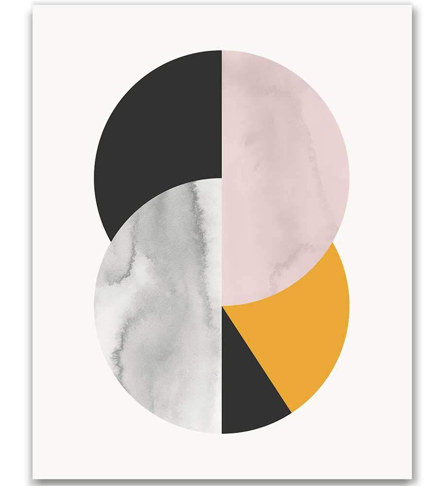 Abstract Geometric Wall Art Print De Century Modern Direct stock ...