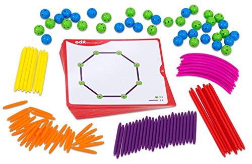 EDX Education GeoStix mit Kugeln - Geometrie geometrische Körper Formen Kinder Schüler Schule Lehrmittel Körperformen Geometrieformen Volumen Mengen Form Mathematik Lernen Unterricht
