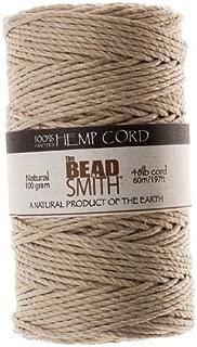 Beadaholique Natural Hemp Twine Bead Cord, 2mm by 197-Feet