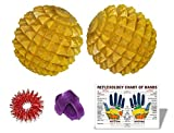 Wooden Hand/Foot Pointed Acupressure Ball Massager Set of 2 Pcs
