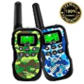 HLAOLA Kids Walkie Talkies?22 Channel 2 Way Radio Kid Gift Toy 3 Miles Range with Backlit LCD Flashlight Best Gifts Toys for Boys and Girls to Outside Adventure , Camping?Best Gift Toys for Kids from