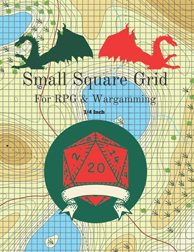Small Square Grid: for RPG and Wargaming: 1/4 inch square: 8.5 - 11 page