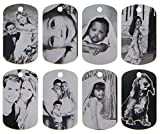 ElimL (TM) Aluminum Personalized Laser Photo Dog Tag Black and White Picture Pendant with 24 Inch Ball Chain