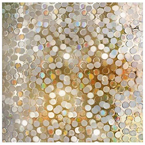 LMKJ Película de Windows preservación estática Mosaico Capa de Aislamiento térmico Anti-Ultravioleta película de círculo pequeño A126 30x100cm