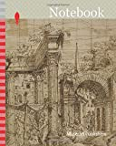 Notebook: Ruins of Roman Forum, with Figures, c. 1550, Giovanni Battista Pittoni the Elder, called Battista Vicentino, Italian, 1520-1583, Italy, Pen ... in graphite, laid down on ivory laid paper