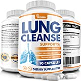 Lung Cleanse and Detox Pills - Supports Respiratory Health and Clear Lungs - Quit Smoking Lung Support Supplement - Lung Health Pills for Allergy and Pollution Relief - Vegan - 90 Capsules