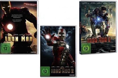 Iron Man 1+2+3 im DVD Set - Deutsche Originalware - [3 DVDs]