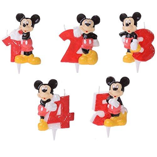 Modecor Italiana Candela numerale Topolino Disney per Torta di Compleanno - 3
