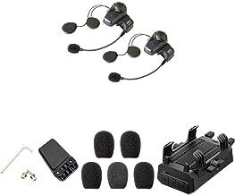 Sena 10S-01D Bluetooth-Headset und Sprechanlage + SC-HR-01 Handlebar Remote + SC-A0109 Mikrofonaufsätze + GP10-02 Bluetooth Audio-Pack & Zubehör für GoPro-Kamera