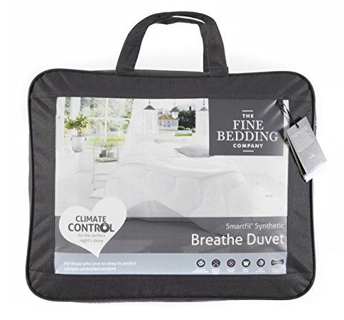 The Fine Bedding Company Double 4.5 TOG Breathe Duvet, Temperature Regulating Microfibre Quilts, Anti Allergy Climate Control Technology Duvets