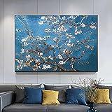 Impresión de arte Cuadro de lienzo de paisaje de flores abstractas clásicas impresiones y póster Cuadros cuadro de arte de pared para la decoración del hogar de la sala de estar Cuadro 50X70cm