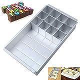 Cozywind DIY Cake Mold Set Teglia Componibile Lettere e Numeri Aluminum Numero Torta Padella Antiaderente Regolabile per Dolce di Compleanno, 31x 18.5 x5.5 cm
