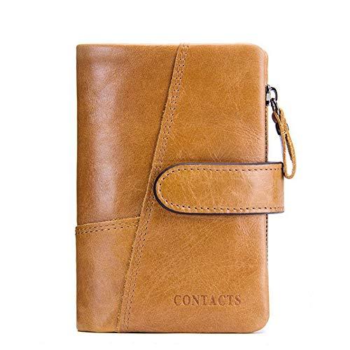 QQBB dames portemonnee voor dames met meerdere kaartsleuven, opvouwbare multifunctionele handtas