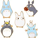 Cute Totoro Enamel Lapel Pin Set - Cartoon Brooch Pin Badges for Women Girls Children Animal Lovers to Decorate Hat Clothes Backpacks