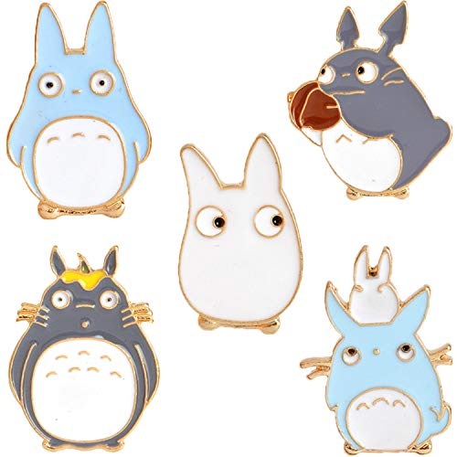 Cute Totoro Enamel Lapel Pin Set, Cartoon Brooch Pin Badges for Women Girls Children Animal Lovers to Decorate Hat Clothes Backpacks