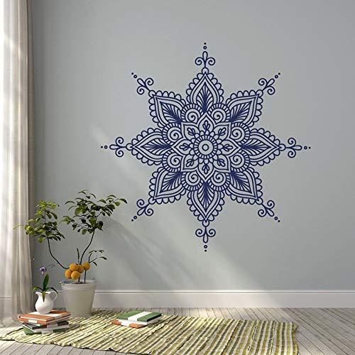 Vcnhln Calcomanía de Pared Mandala Vinilo Adhesivo-Yoga Vinilo calcomanía Estilo Bohemio decoración de Dormitorio 57x57cm