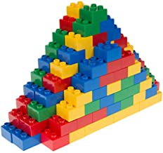 Strictly Briks - Big Briks Set - 108 Pieces - Blue, Green, Red, & Yellow - Compatible with All Major Brands - Large Building Blocks for Ages 3 and Up