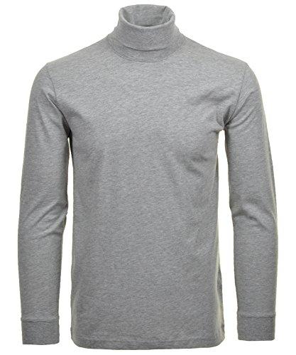 RAGMAN Rollkragen Pullover Baumwoll-Jersey L, Grau-Melange-012
