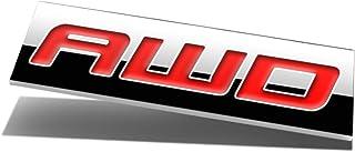 Chrome Finish Metal Emblem AWD Badge (Red Letter)